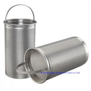 China Square Hole 304 316 Stainless Steel Woven Wire Mesh Screen Perforated Filter Tube on sale