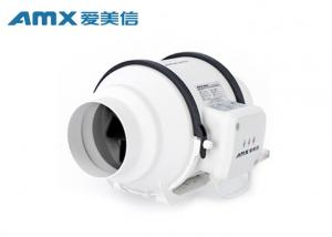 China High Static Pressure 4 Inch Inline Duct Fan , Circular Exhaust Fan For Office on sale
