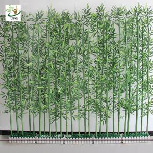 China UVG wholesale decorative artificial lucky bamboo in silk and plastic leaves for indoor decoration PLT19 on sale