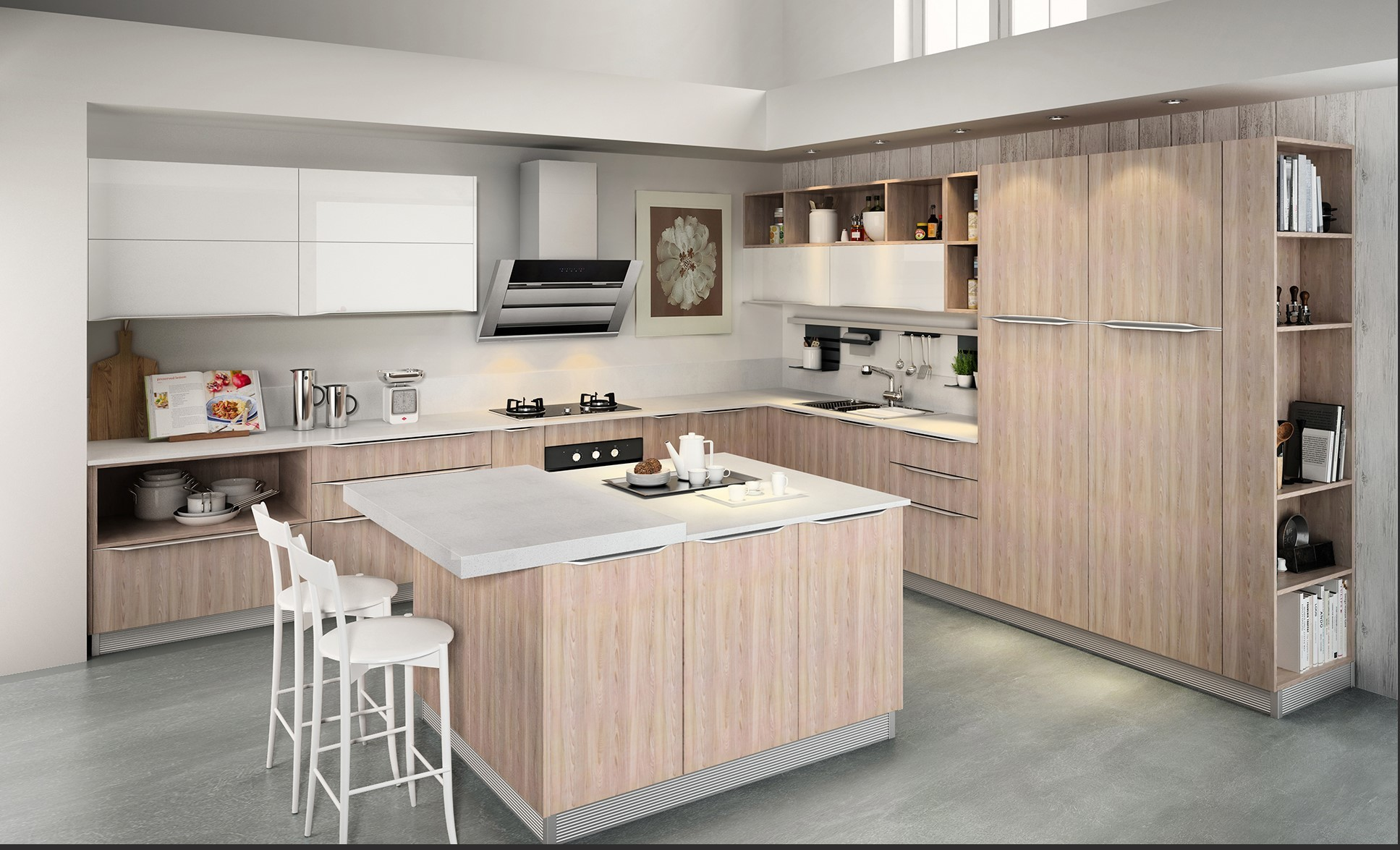 High Quality Villia Project Norlan Morden Kitchen Cabinet With