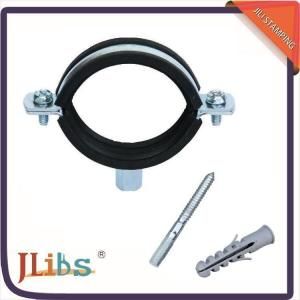 Standard Rubber Lined Pipe Clips , Pipe Brackets And Pipe Hanging