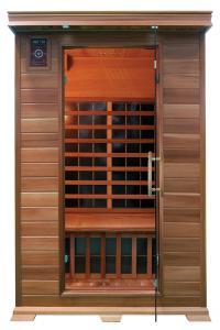 China Sitio de la sauna del ABETO con el calentador del carbono hecho del cedro rojo de Canadá on sale