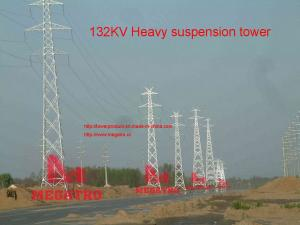 132KV Heavy suspension tower for sale – transmission tower