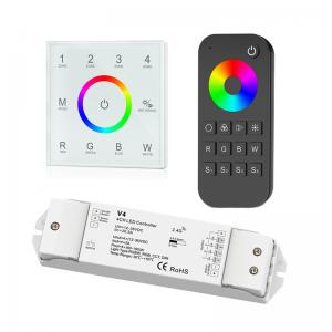 China 4 Zone RGBW LED Controller , Led Dimmer Touch Panel With Remote Control on sale
