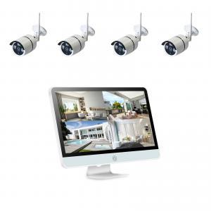 China 1080P CCTV IP Camera 4ch Wifi Nvr Kit 2.0MP H.264 12 Inch HD Monitor HD WIFI CCTV NVR and Camera System on sale