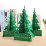 Wholesale Mini Paper Christmas Tree Decor Desk Table Small Party Ornaments Xmas Gift