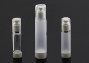 Quality Projeto atrativo da garrafa cosmética branca baixa de prata da bomba da capacidade 80ml da borda for sale