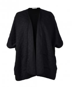 China Black Ladies Casual Cardigans Plus Size With Half Loose Sleeve In Autumn on sale