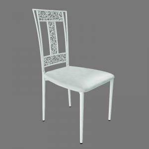 Quality Steel Cafe White Wedding Chairs Rent Wedding Venue Chairs For Dining room for sale