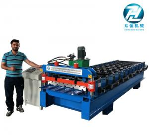 China Automatic Aluminum Cold Roll Forming Machine 4KW 10 Meters/Min on sale