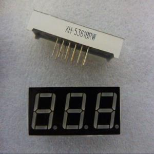 China Red color 0.56inch XH-5361BRW 7 segment LED numeric display 3 digit on sale