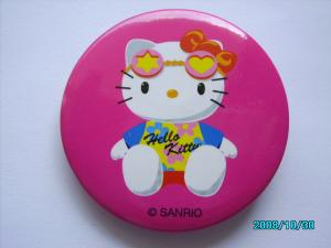 China 5mm Fashion Cute Pink Hello Ketty Pins Buttons Badges on sale