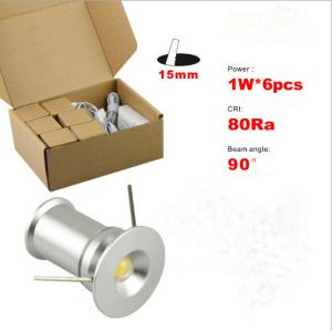 China 6pcs 1W recessed Mini LED light lamp decorate wall panel Spotlight Driver+wire Kit on sale