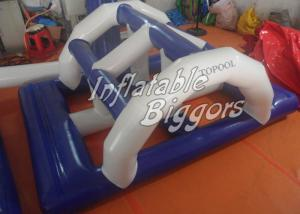 China Kids Floating Inflatable Bridge Water Game CE AU For Water Inflatables Rentals on sale