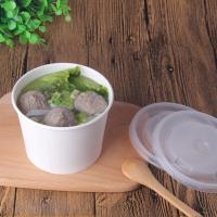 Hot soup paper bowls supplier,Hot soup restaurant paper cup container without logo printing