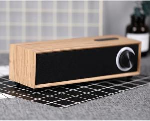 China Rechargeable 5W 4 Ohm Wooden Bluetooth Speaker , Customized Passive Portable Speaker on sale