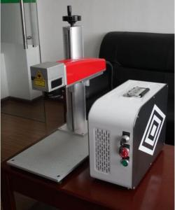 China 20W Mini fiber laser marking machine for plastic PVC data matrix and barcode on sale
