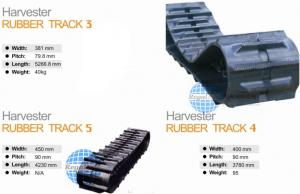China harvest rubber track on sale