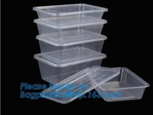 China Wholesale 3 Compartment Take away Microwave PP High Quality food container Plastic Prep Meal disposable bento box with l on sale