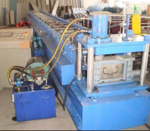 China High quality 11KW galvanized steel rolling shutter door slat roll forming machine with CE on sale