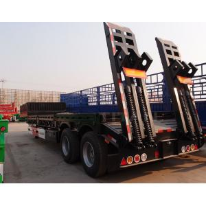 China 2 axles 40 tons flat deck low bed trailer low loader semi trailer for sale on sale