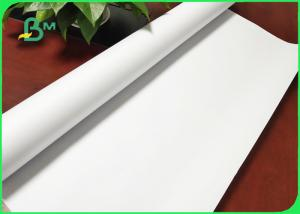 China White Color Uncoated Plotter Paper 24'' / 36'' Wide Format Printer For Garments on sale