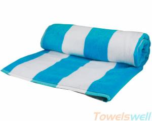 China Stripe beach towels Lint Free Ultra Soft  Drying fast Super Absorbent on sale