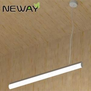 China 24W 36W 48W Indoor Lighting LED Tube Pendant Light Fluorescent Tube Lamp Luminaire Fixture Office LED Linear Light on sale