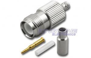 China Cables connecteur coaxiaux femelles et masculins de TNC 50 ohms 75 ohms pour le câble RG59 on sale