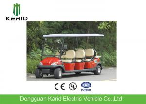 China Red Color Electric Golf Carts Sightseeing Car With 8 Seats CE And UL Standard on sale