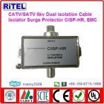 catv_matv_satv 6KV surge protection STB high quality dual isolation ground isolators CISP-HR, compliant with EMC