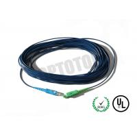 China SC Connector Fiber Optic Patch Cord 1F 2.0mm With Dark Blue Jacket on sale