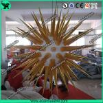 Golden Inflatable Star With LED Light/Festival Event Decoration Inflatable