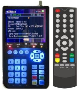 China 4.3 Inch DVB-S Digital Satellite Finder Meter With Patch / D Olby Factory on sale