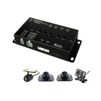 4CH Vehicle Security Camera System Quad Video Switch Control Box 4 Cameras KIT