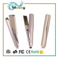 Professional PTC Heater White Ceramic Flat Iron 2 in 1 Hair Straightener hair curler