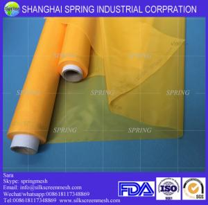 China White/Yellow 32T-55PW 100% Monofilament Polyester Screen Printing Mesh Fabric/Screen Printing Mesh on sale