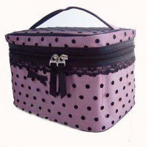 China Newstyle 18*12*26CM with polyester material and PVC lining Fashion Cosmetic Bag on sale