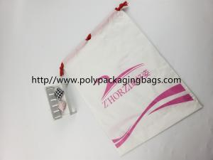 China Fashional Plastic Bags With Drawstring Closure , Customized Logo Printed on sale