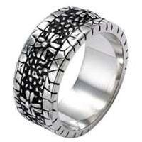China Gothic Style Golden Pattern Stainless Steel Ring for Men 1120490  on sale