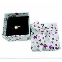 Engagement Ring Gift Jewelry Paper Boxes Packaging Purple And White Spot