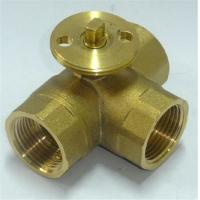China HVAC System Brass 3 Way Electric Ball Valve High Temperature Resistance on sale