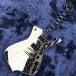 Grand Custom Gold Crack Mirror Paul PS10LTD Guitar Ice Man White Binding Electric Guitar