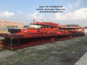 China Large Scale Used Truck Trailers , Container Transport Skeleton Flatbed Semi Trailer on sale