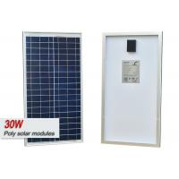 30w Poly Solar Cell Panel Off Grid Living Solar Power System With MC4 Connector
