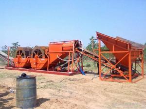 China Sand Screening Ore Washing Machine Wheel Bucket Type Simple Structure on sale