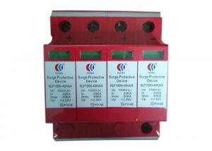 China 4 Poles DC1000v Solar Surge Protection Device With Fire Resistant Material on sale