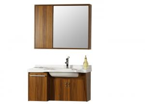 China Ceramic Basin Bathroom Vanity Cabinets Wall Mounted Installation Type on sale