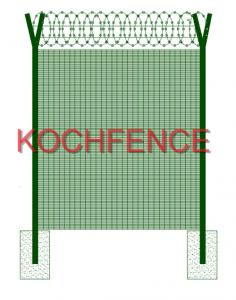 China Commercial 358 Security Fence / Prison Electric Fence Convenient Installation on sale