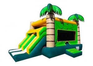 China Jungle Green Tree Inflatable Obstacle Course 4Mx 6M X 4M 3 Years Warrenty on sale
